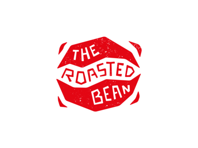 Coffee shop logotype. The Roasted bean
