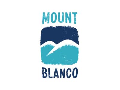 Ski mountain logotype. Mount Blanco