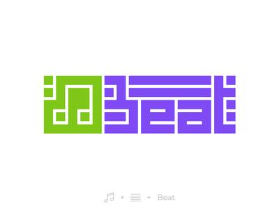 Streaming music startup logotype.