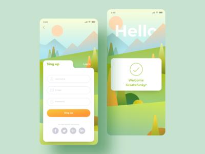 Sing Up Mobile App