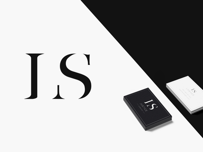 LS monogram and business card