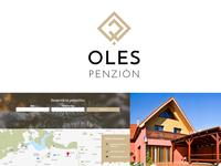 Oles Penzion logo + website