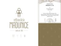 Restaurant branding - Reštaurácia Madunice