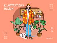 A shopping girl - illustration 2