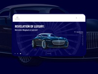 The Vision Mercedes-Maybach 6 Cabriolet Website Redesign
