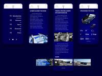 Mobile Website Design of Mercedes-Maybach 6 Cabriolet