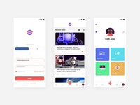 Space style mobile news app