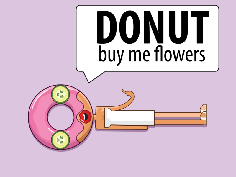 Donuts are love donut relaxing spa illustration fortheloveofdonuts donuts valentine day valentines valentine valentinesday