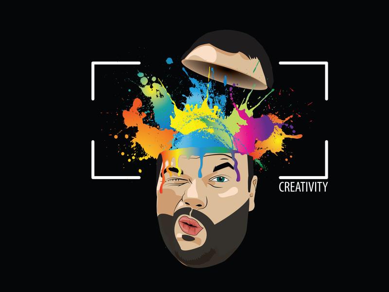 Creativity Boms design vector illustration illustrator