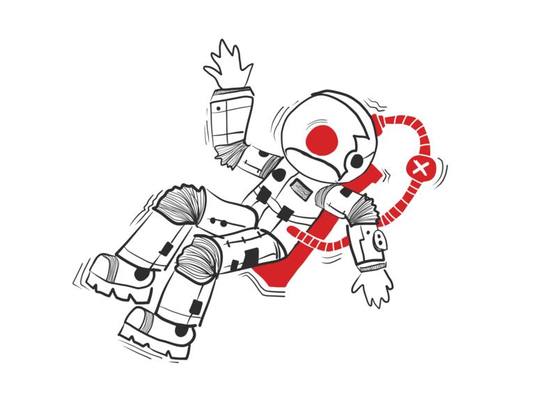 Note10 Astronaught illustration illustrator flat astronaut note10