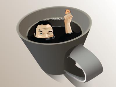 coffee and koekies is where my ZEN is cookies zen coffee vector design illustration illustrator