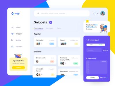 Snipp App Dashboard