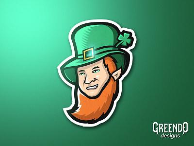Leprechaun Mascot esports logo type sports vector gaming design illustration mascot logo irish man irish