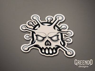 Corona Virus Skull Mascot design branding illustration vector gaming illustrator angry mad mascot logo skull logo art skull coronavirus corona