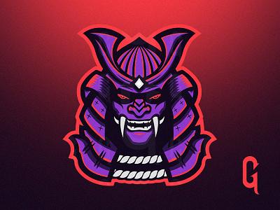 Samurai Logo esports branding sports vector gaming illustration warrior china samurai design mascot logo