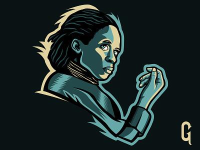 Dune - LietKynes green yellow out of space space desert sci-fi imdb design vector liet kynes illustration mascot logo movie dune