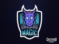 ( Deamon ) Magic Mascot Logo