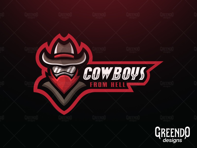Cowboys From Hell Mascot Logo [FOR SALE] by Daniel Tsankov