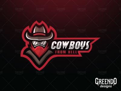 Cowboys From Hell Mascot Logo [FOR SALE]