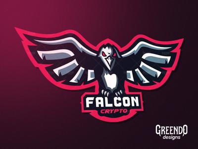 Falcon Mascot Logo Made For A Client