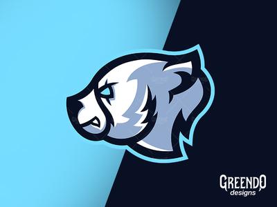 Polar Bear Mascot Logo For [ SALE ]