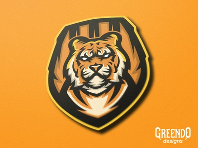 Tiger Badge Mascot Logo [FOR SALE]