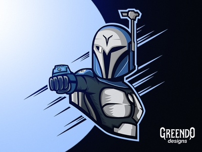 Bo-Katan - StarWars gaming star wars character hero blue fanart artwork clone wars starwars vector design illustration mascot logo