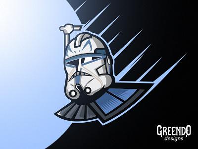 Captain Rex - Star Wars star wars rex fanart vector design illustration mascot logo art clonewars starwars