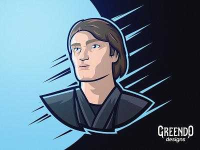 Anakin Skywalker - Star Wars fan art anakin star wars starwars skywalker art design vector illustration mascot logo