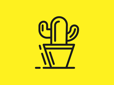 "Cactus icon lineart line stroke minimal plant cactus icons ""icon design design icon"