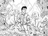 Jurassic World Fan Art - Lines