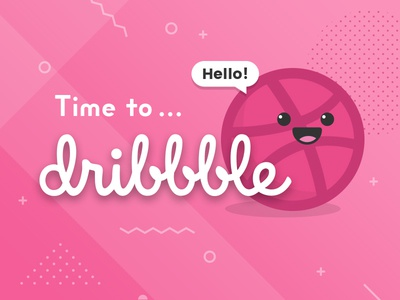 Time to Dribbble! invitation thank you first shot dribbble debut