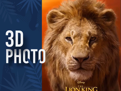 Lion King 3D Photo simba animated animal lion head lion king 3d photo