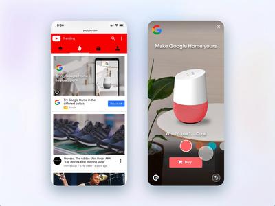 Google Home AR Ad