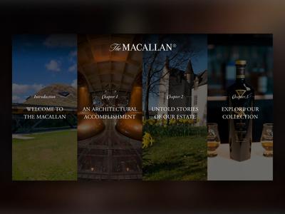 The Macallan Interactive 360° VR Experience omnivirt campaign design branding 360 view 360 degree vr interactive ui design adobe xd