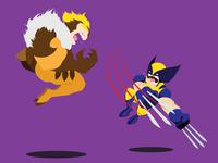 Wolvie VS Sabretooth
