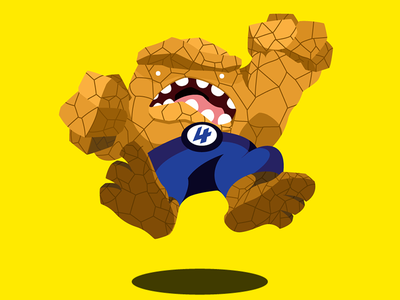 It's Clobberin' Time illustration cartoon the thing ben grimm marvel fantastic four comics vector jump clobberin time