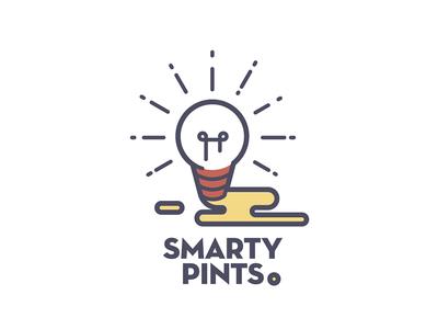 Smarty Pints illustration line art beer pong pun lightbulb beer