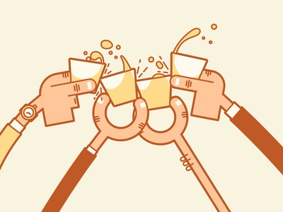 Holiday Cheers! splash liquor drink holiday cheers line art illustration