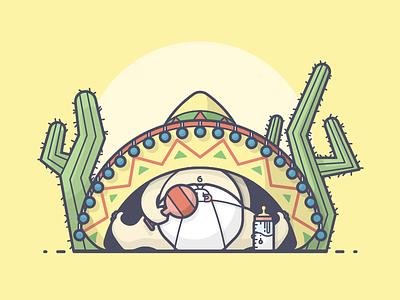 !Maracas! fun sombrero diaper bottle maraca cactus baby shower baby line art illustration