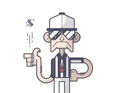 Coin Toss sunglasses whistle toss coin referee football super bowl line art illustration
