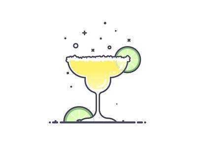¡Margarita! drank alcohol lime margarita line art illustration