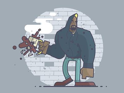 Luke Cage harlem bulletproof coffee comics marvel luke cage line art illustration