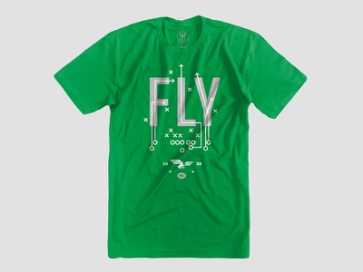 Fly Eagles Fly Shirt sports football eagle fly philly philadelphia eagles shirt tshirt line art illustration