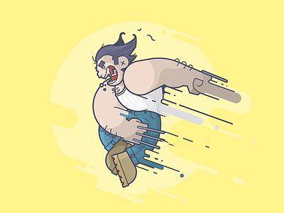 Logan! speed claws snikt movie logan wolverine line art illustration