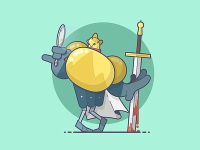 I feel pretty, oh so pretty... pretty knight blood sword sandor clegane the mountain got game of thrones line art illustration