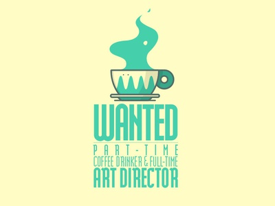 Coffee Drinkers wanted art director coffee line art illustration