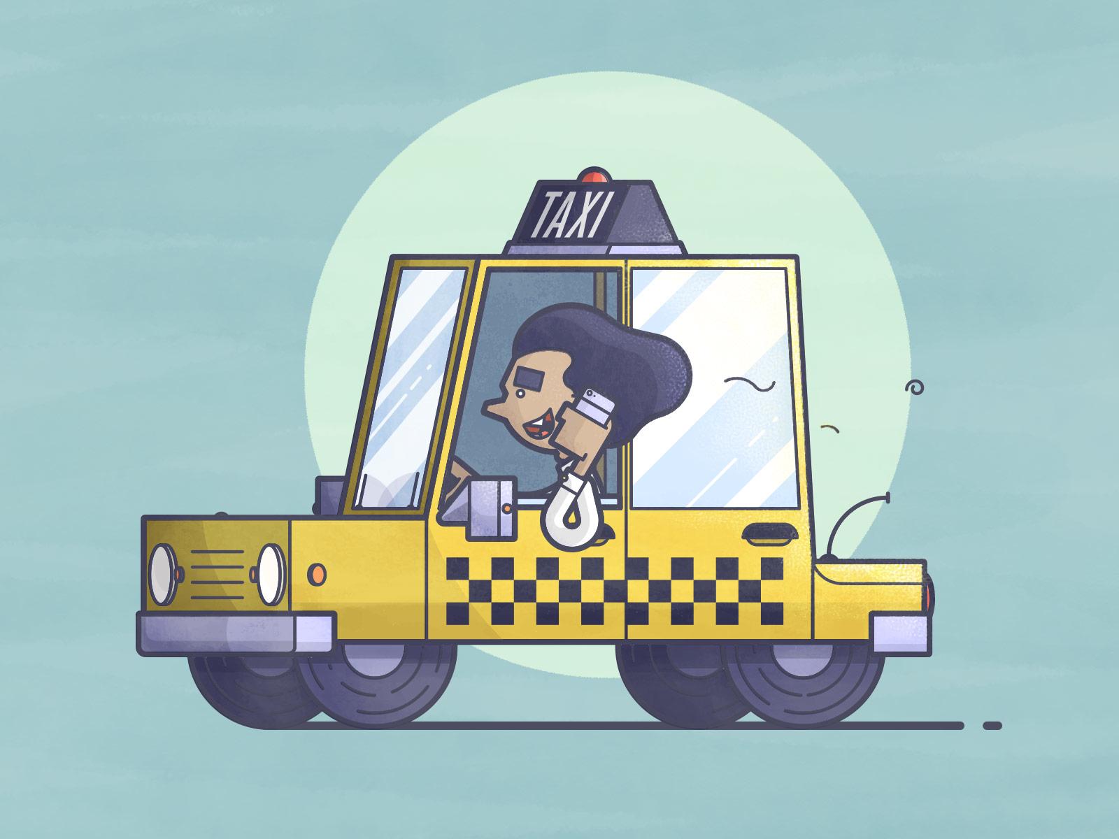 Chris fernandez taxi dribbble