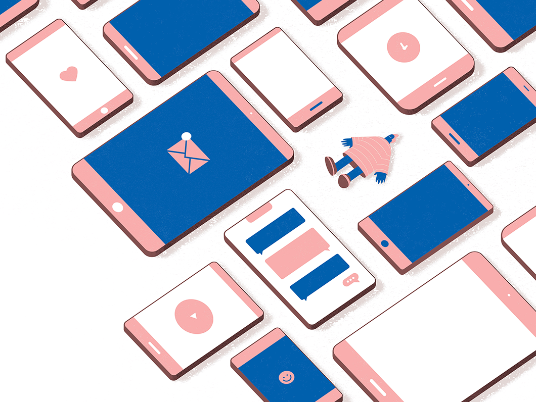 Chris fernandez lonely guy phones dribbble