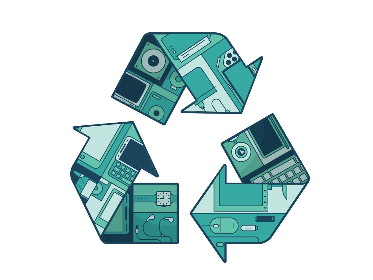 Chris fernandez electric recycling editorial 1 dribbble